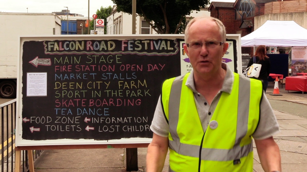 Falcon Road Festival volunteer